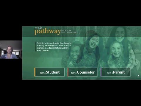 Family & School Counselor Webinar Series Build a Digital Portfolio in MEFA Pathway