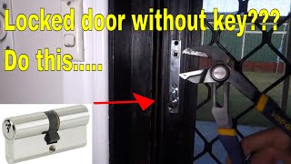 open locked door without key - replace euro cylinder lock