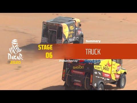 【ダカールラリーハイライト動画】ステージ6 トラック部門のハイライト