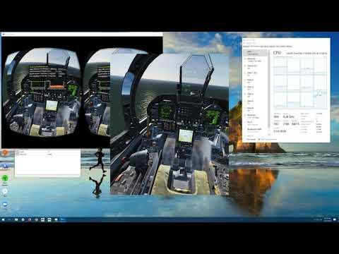 DCS World with RTX 2080 TI VR LOWEST settings - смотреть