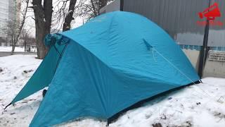 Жители разбили палатку возле стройки на Кравченко 16