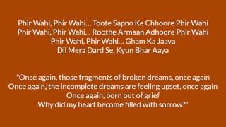 Phir Wahi Lyrics with Translation | Jagga Jasoos - BollyMeaning