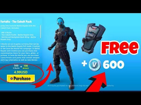 buying cobalt starter pack in fortnite with free v bucks included - fortnite cobalt starter pack ps4