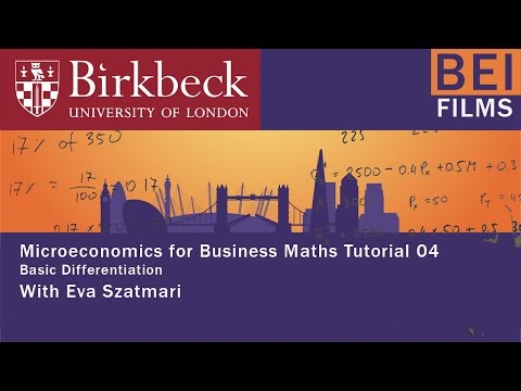 Micro for Business 04 - Basic Differentiation