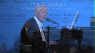 """Patrick Healy sings """"Galway Bay"""" at the JFK Library"""