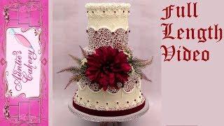 Full Length Cornelli Lace Wedding Cake Tutorial