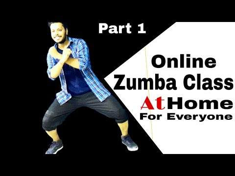 Online Fitness and Exercise Class - Part 1   Zumba Dance Workout For Beginners Step By Step