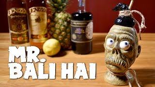 Mr. Bali Hai - a Tiki Drink with Rum, Coffee Liqueur & Pineapple