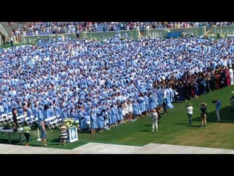 UNC Chapel Hill Tar Heels Graduation - Singing - May 2018