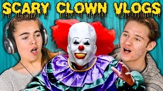 TEENS REACT TO SCARY KILLER CLOWN DAILY VLOGS