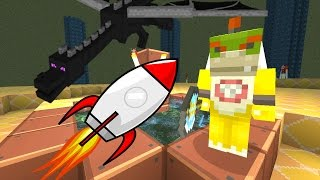Minecraft Wii U - Nintendo Fun House - BOWSER JR GOES TO THE MOON [62]