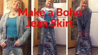 My Boho Jean Skirts
