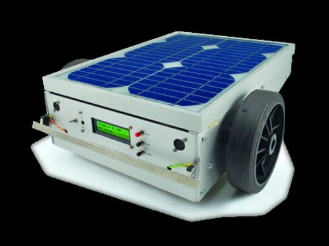 a robotic lawn mower powered by solar energy with an. Black Bedroom Furniture Sets. Home Design Ideas