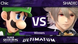 Ultimatum  - eLH | Chic (Luigi) vs SHADIC (Corrin) Winners - SSBU