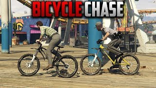 COPS CHASE ME ON BICYCLES | GTA 5 ROLEPLAY