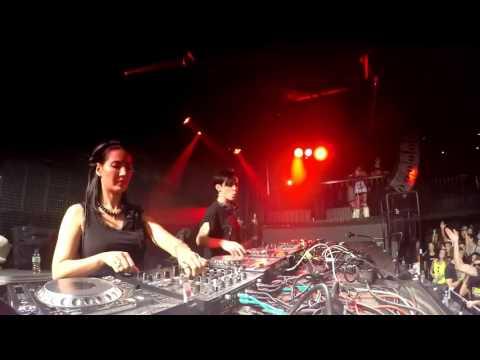 Fernanda Martins & Sheefit playing in 4 decks @ ECO FESTIVAL HT Specials 2 SLOVENIA
