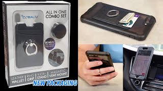 4-in-1 Smartphone Wallet, Ring, Kickstand and Magnetic Car Mount