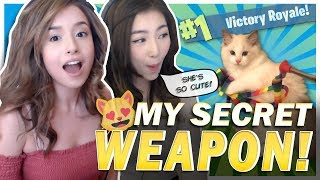 SOLO VICTORY! POKI REVEALS HER SECRET WEAPON! FORTNITE FT. xChocoBars!