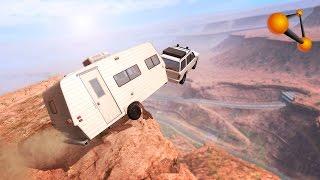 BeamNG.Drive - Caravan Cliff Jumping #1