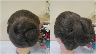 Quick & Easy Summer Hairstyle For Girls / Formal Hairstyles / Different Bun Hairstyle For Long Hair
