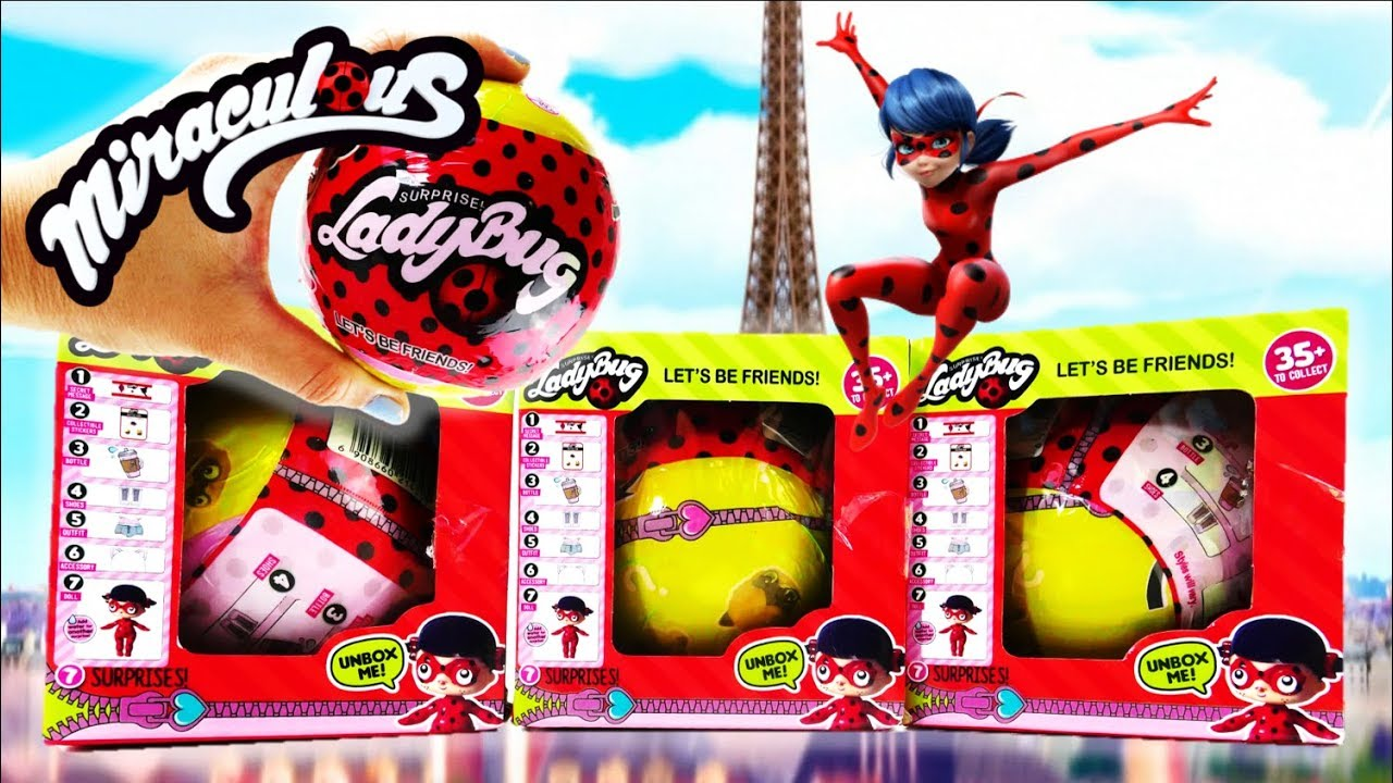 Miraculous Ladybug and Cat Noir LOL Surprise Dolls Toys