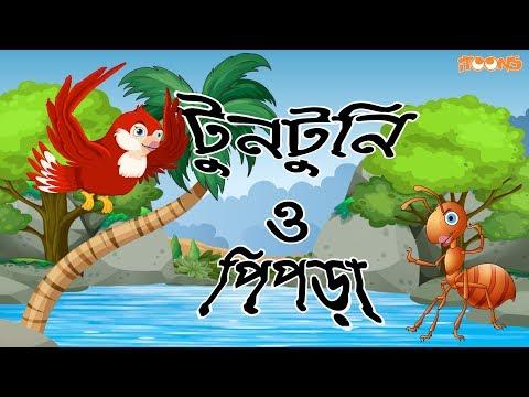 Tuntuni O Pipra | Thakurmar Jhuli | Panchatantra | Bangla Fairy Tales | Bangla Cartoon