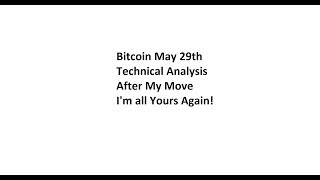 Bitcoin May 29th Technical Analysis - After My Move, I'm all Yours Again!