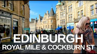 [4K] Edinburgh, Scotland (2019) Royal Mile & Cockburn Street Walking Tour.
