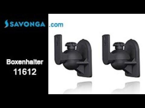 Savonga® 11612 Wandhalterungen für Satellitenlautsprecher, Set, Halter f. Boxen bis 3,5kg
