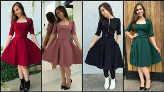 Gorgeous Fabulous And Elegant Simple A-Line/Skater Dress Design