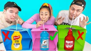 DON'T CHOOSE THE WRONG MYSTERY DRINK CHALLENGE!!