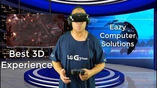 Best 3D VR Headset | Vuzix iWear Video Headphones 2018 | Wearable Display for Mobile Entertainment