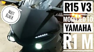 yamaha r15 v3 black colour modified - TH-Clip