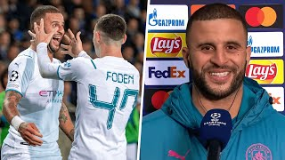 """""""I am fuming we conceded."""" Kyle Walker on near perfect night in Belgium 😅"""