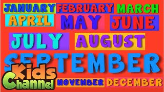 Months Of The Year | Learning Videos for Kids | Rhymes And Songs from Kids Channel