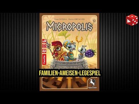 Micropolis (Bruno Cathala, Charles Chevallier, Pegasus 2018) - Familien-Ameisen-Legespiel