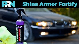 Shine Armor Quick Coat Fortify Waterless Car Wash Review