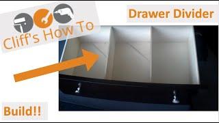 Wooden Drawer Divider DIY
