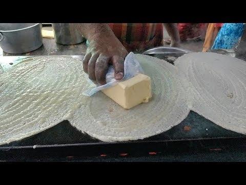 BIG BUTTER Dosa   INCREDIBLE Dosa Making Skills   Indian Street food