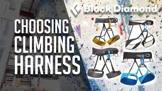 How to FIT & CHOOSE a CLIMBING HARNESS w/ Black Diamond! VLOG