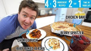 4 x 3 Ingredient recipes 2 try 1 time in your life! Part 12