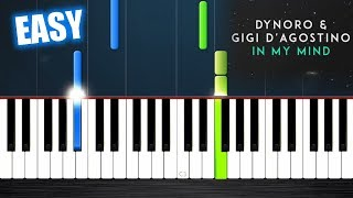 Dynoro, Gigi D'Agostino   In My Mind   EASY Piano Tutorial By PlutaX