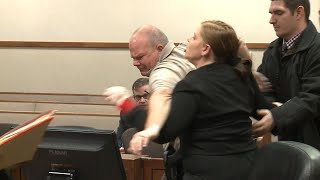 Grieving Mother Lunges At Man Accused Of Killing Her 2 Sons