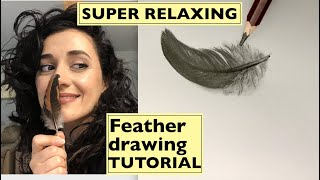 Unintentional ASMR Drawing Feathers