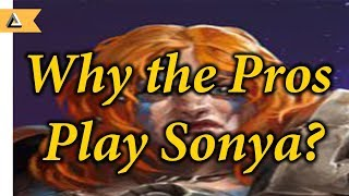 Why do the pros play Sonya? (An analytical look on Pro Play)