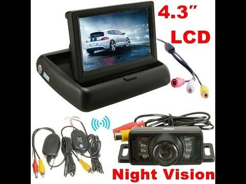 Videorecensione ITA AUDEW 4.3''Telecamera Auto Vista Posteriore di Parcheggio Retromarcia Pieghevole