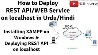 How to Deploy REST API on localhost, Installing XAMPP on Windows | U4Universe