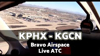 FLYING from Phoenix Sky Harbor Airport to the Grand Canyon Airport - Piper Archer - Class B Airspace