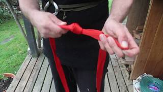 how to make an easy climbing waist and chest harness from rope or webbing