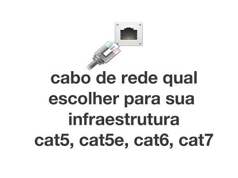 Cabo de Rede qual escolher para sua infraestrutura ? cat5e, cat6, cat7